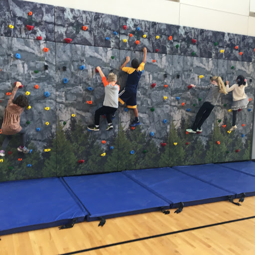 Enjoying our new rock wall